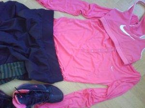 här är mina träningskläder