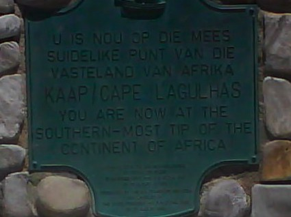 Cape Agulhas Sydafrika