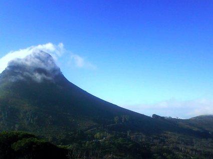 moln och berg i Kapstaden