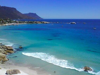 stranden i Kapstaden