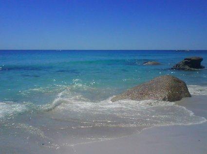 blått vatten i Kapstaden