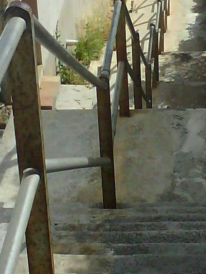 en trappa i Kapstaden