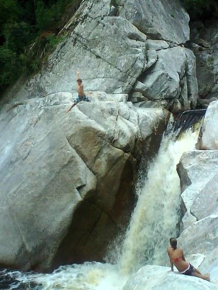 hopp i vattenfallet