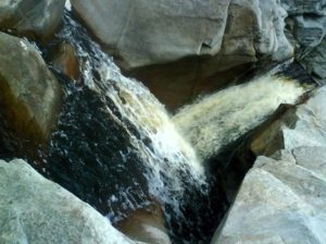 vatenfallet i Wilderness nationalpark Sydafrika