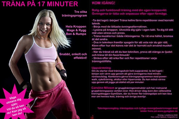 omslag träningsdvd Caroline Nilsson