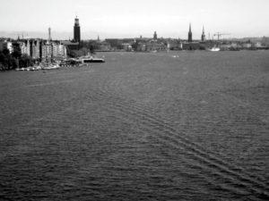 Utsikten från Västerbron mot Stockholm