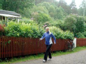 promenad i regn och rusk