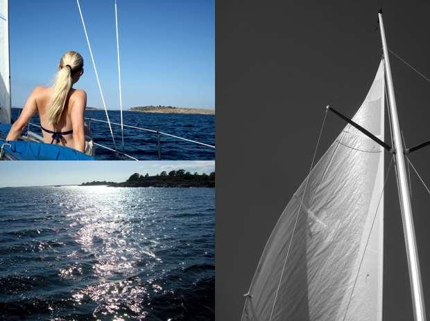 bloggsemester på en segelbåt
