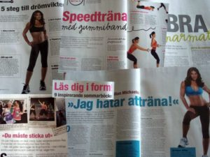 Saxat ut Fitness Magazine augusti
