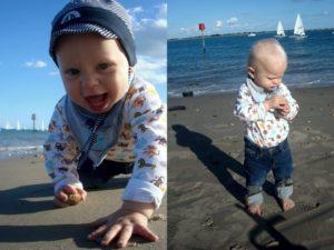 Vidar på stranden