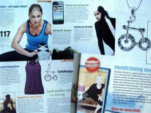 tjuvtitt i senaste numret av Fitness Magazine