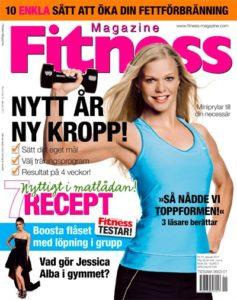 Caroline på omslaget Fitness Magazine
