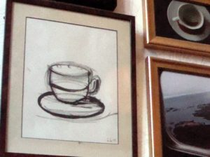 fina tavlor på kafe Muggen