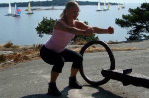 cirkelträning med benböj