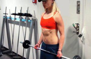 Bicepsböj med stång