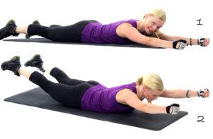 Jobba med musklerna på kroppens baksida