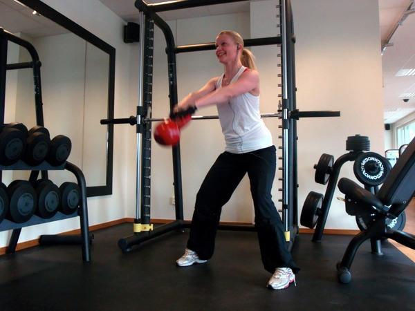 Svettigt på gymmet