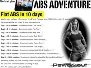 Flat ABS in 10 days
