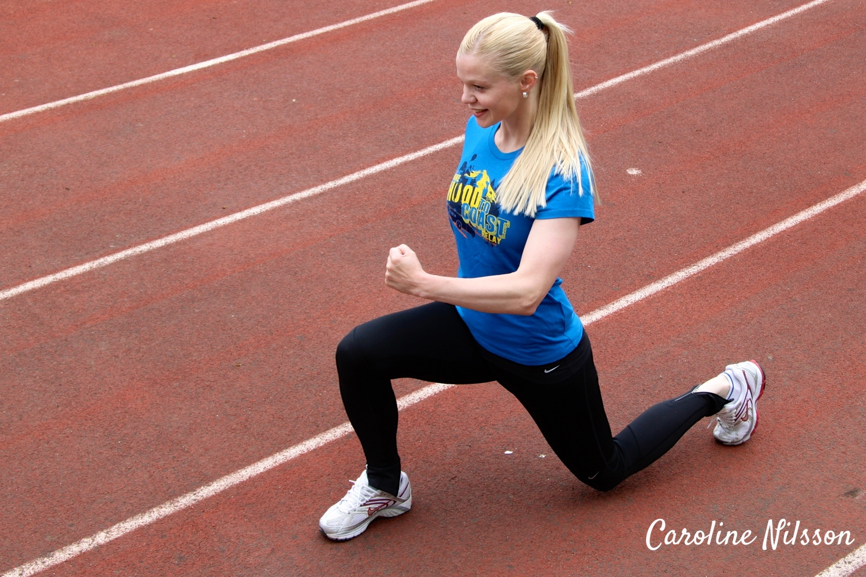 Utfallssteg och hopp är bra träning för hela kroppen