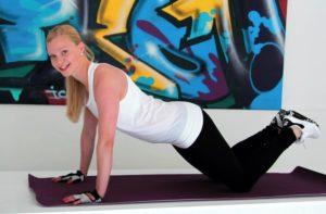 Plankan ger starka magmuskler