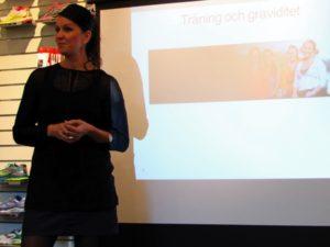 Maria Wigbrant föreläser om träning och graviditet