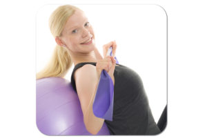 App träningsprogram boll gummiband