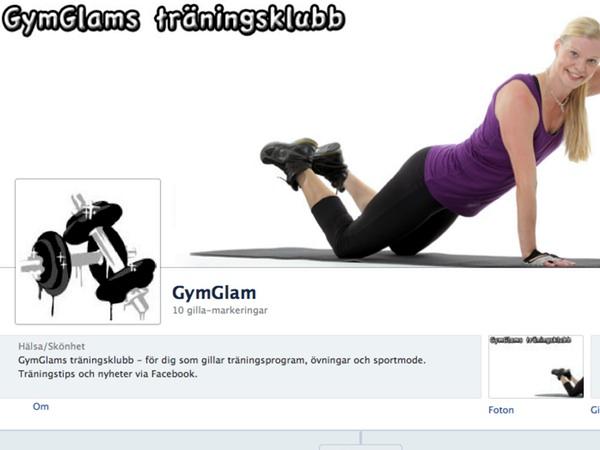 GymGlams träningsklubb på facebook