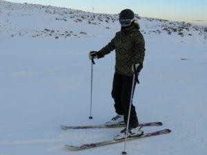 skidor på fjällen