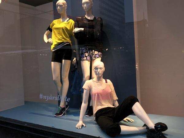 Seg omsättning på träningskläder