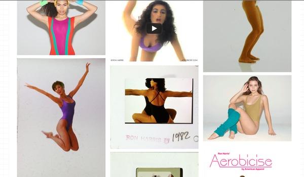 bilder och videos på american apparels kampanjsajt