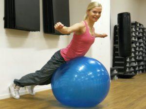 rygglyft pilatesboll