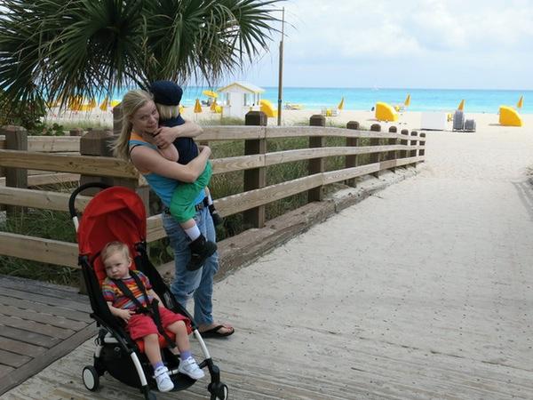 Tyra Vidar och jag på Miami Beach