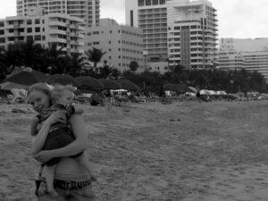 Tyra och jag på Miami Beach