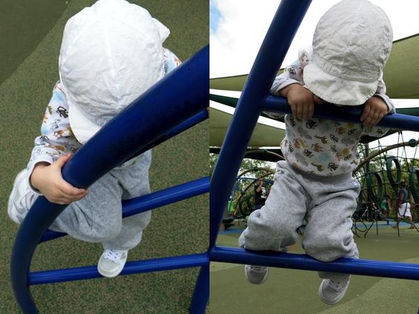 Tyra klättrar