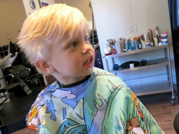 Vidar hos frisören