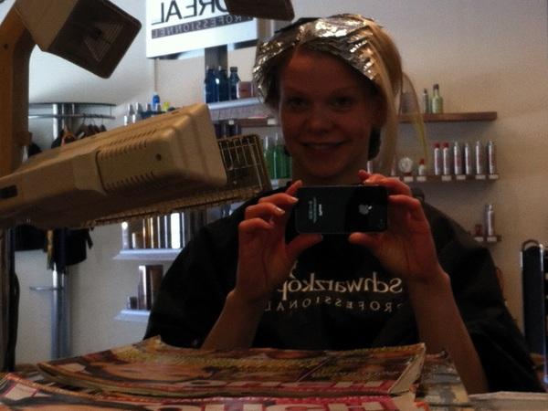Min tur hos frisören