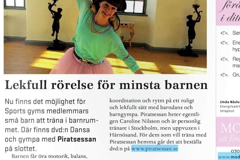Piratsessan på Sports Gym i Härnösand