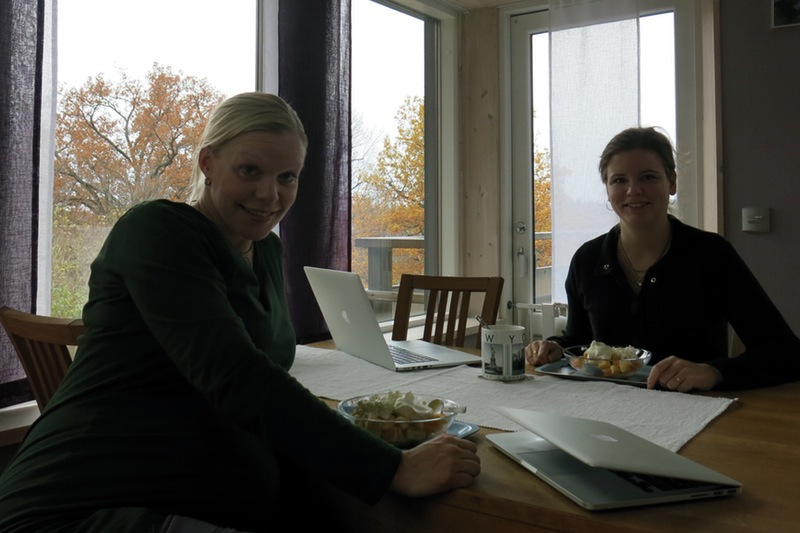 jag och Susanne på dagens kontor