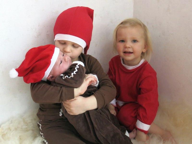julkort med hela gänget