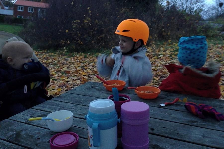picknick i lekparken