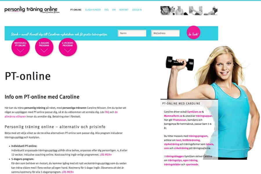 PT-online med Caroline