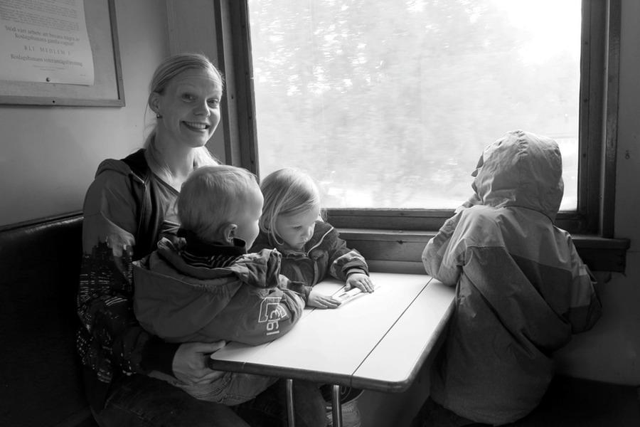 Ombord på Roslagsbanans vetarantåg