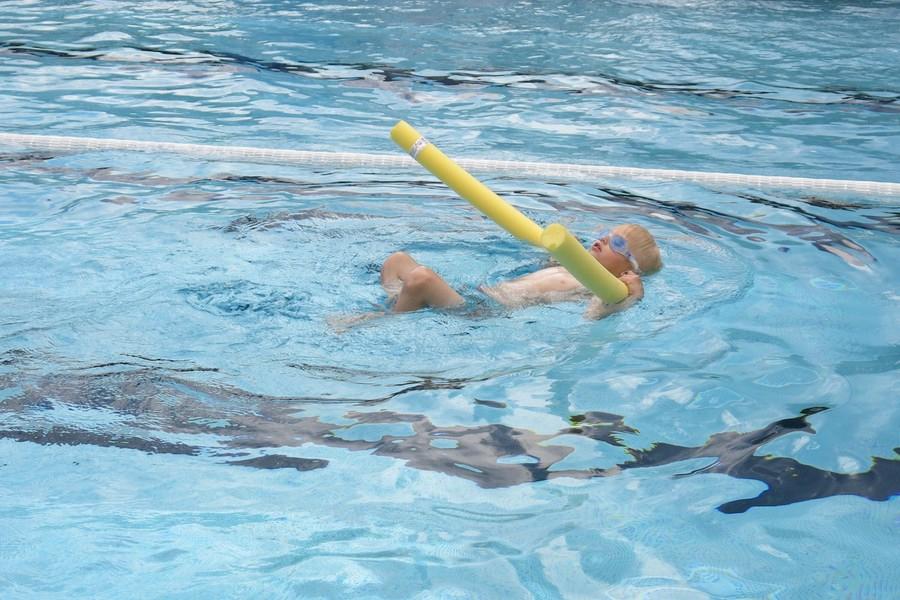 Vidar simmar med korven