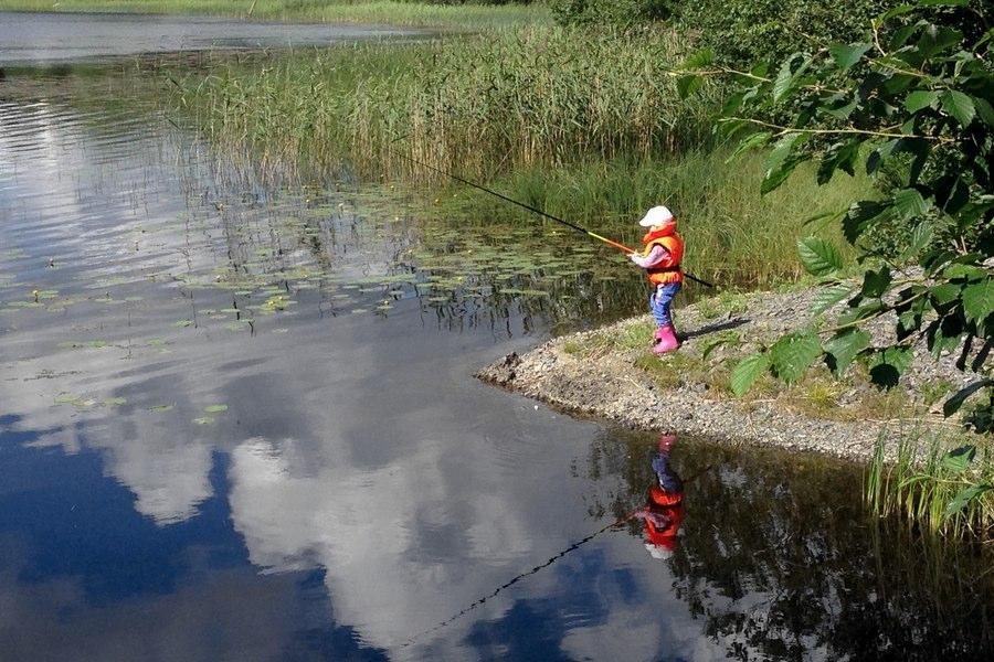 På jakt efter stora fiskar i Norrland
