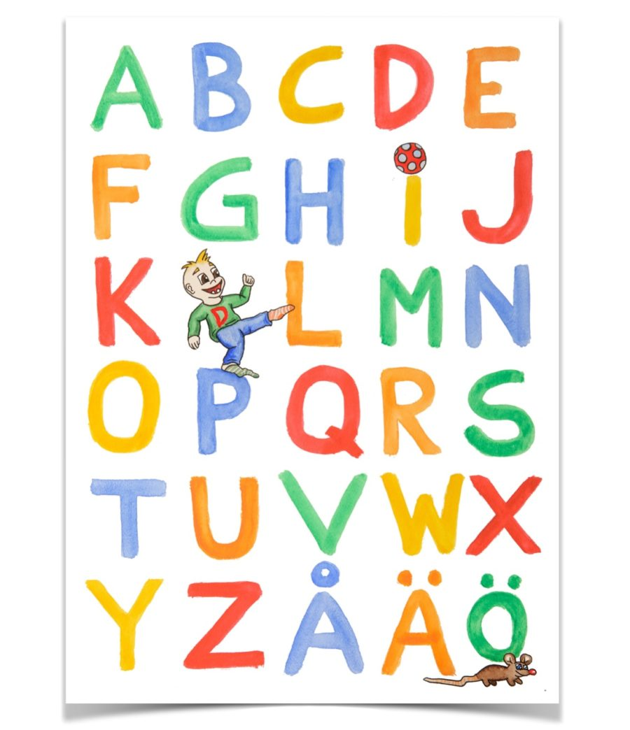 Dantes alfabetsposter