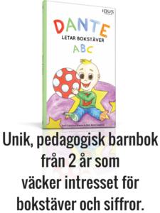 Carolines barnbok Dante letar bokstäver / Dante letar siffror
