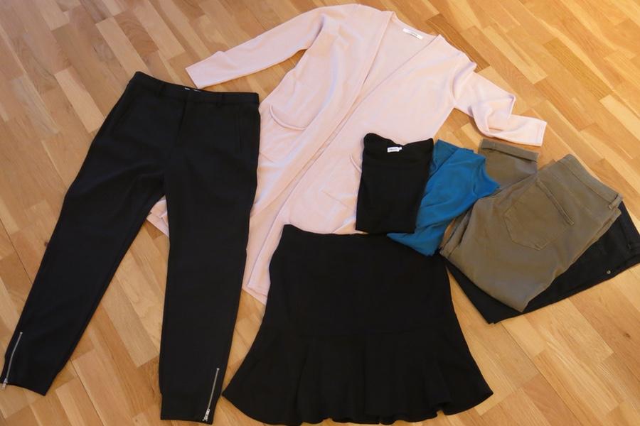 nya kläder i garderoben