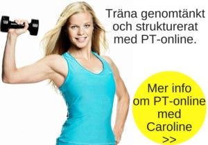 Träna med PT-online Caroline