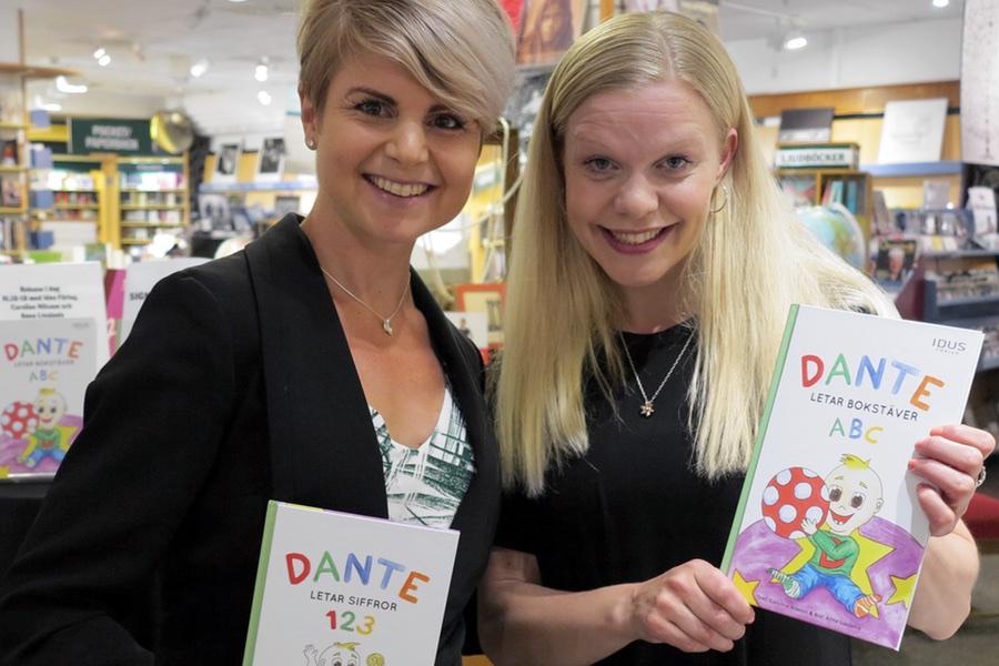Anna Lissjanis och jag med vår barnbok