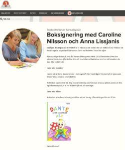 Boksignering med Anna och Caroline på Akademibokhandeln